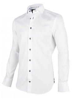 Cavallaro Napoli Overhemd Giorgio Wit (1001007 - 10000)