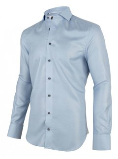 Cavallaro Napoli Overhemd Giulio Ruit Blauw (1001011 - 10613)