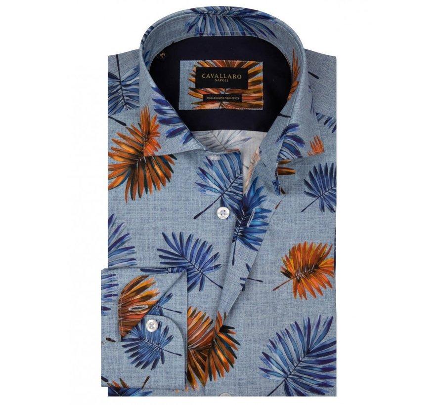 Overhemd Davide Bloemen Blauw (1001041 - 60366)