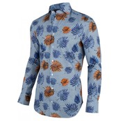 Cavallaro Napoli Overhemd Davide Bloemen Blauw (1001041 - 60366)