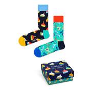 Happy Socks Gift Box 2 Pack Birthday Navy (XBDC02 - 6500)