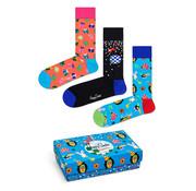 Happy Socks Gift Box 3 Pack Birthday Party Animal (XBPA08 - 6300)