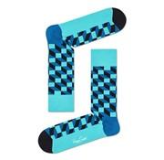 Happy Socks Filled Optic Blauw (FIO01 - 7301)