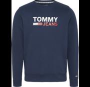 Tommy Hilfiger Sweater Ronde Hals Logo Navy (DM0DM07930 - C87)