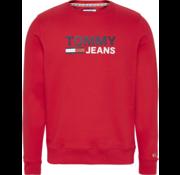 Tommy Hilfiger Sweater Ronde Hals Logo Deep Crimson (DM0DM07930 - XNL)