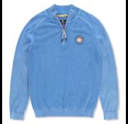 New Zealand Auckland Pullover Half Zip Mavis Blauw (20AN471 - 260)