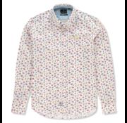 New Zealand Auckland Overhemd Takaka Print Khaki Groen (20AN553 - 251)