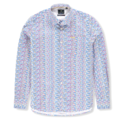 New Zealand Auckland Overhemd Tamaki Print Blauw (20AN554 - 260)