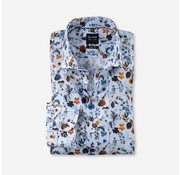 Olymp Overhemd Level 5 Body Fit Print Licht Blauw (2040 54 27)
