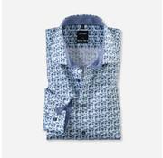 Olymp Overhemd Luxor Modern Fit Print Blauw (1254 54 45)