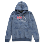 New Zealand Auckland Hooded Sweater Paradise Print Blauw (20AN327 - 375)