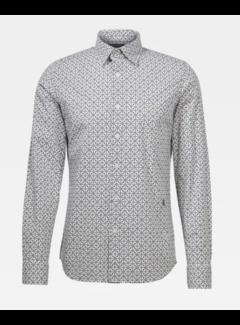 G-star Overhemd Slim Fit Wit Print (D16171 - C173 - 9853)