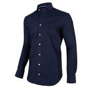 Cavallaro Napoli Overhemd Linno Navy Blauw (1001049 - 63000)O