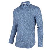 Cavallaro Napoli Overhemd Benito Blauw Print (1001066 - 60103)O