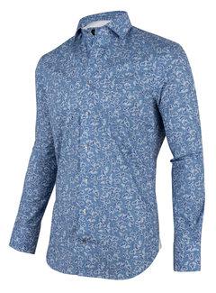 Cavallaro Napoli Overhemd Benito Blauw Print (1001066 - 60103)