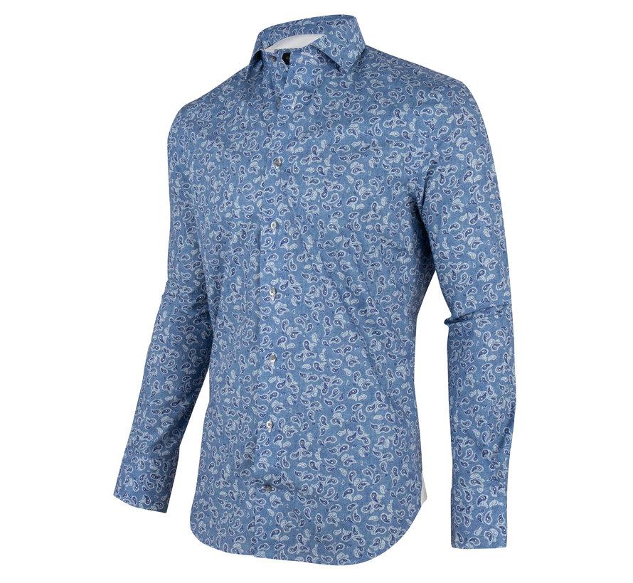 Overhemd Benito Blauw Print (1001066 - 60103)