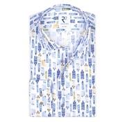 R2 Amsterdam Overhemd Blauw (108.WSP.120 - 014)