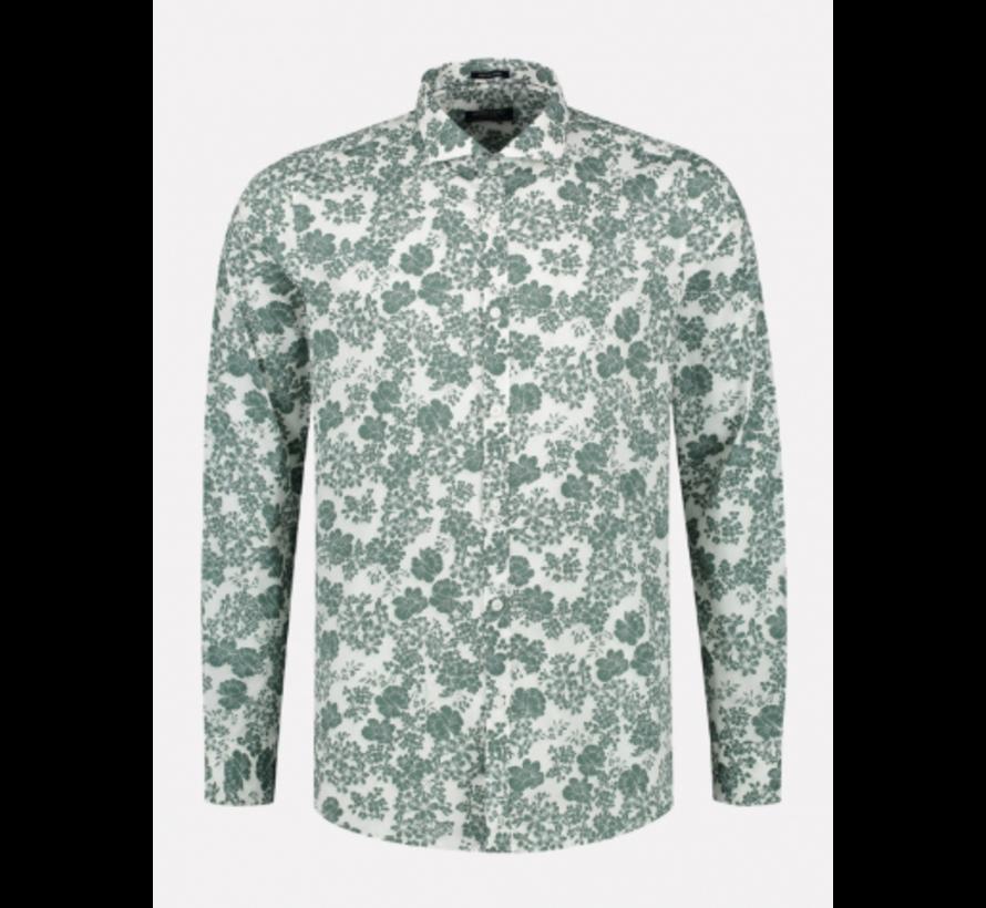 Overhemd Slim Fit Print Groen (303330 - 525)