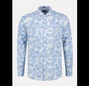 Dstrezzed Overhemd Slim Fit Print Blauw (303330 - 625)