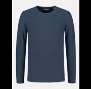 Dstrezzed Pullover Ronde Hals Slim Fit Navy Blauw (405254 - 669)