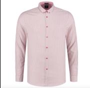 Dstrezzed Overhemd Slim Fit Gestreept Rood (303260 - 421)