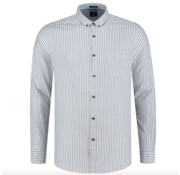 Dstrezzed Overhemd Slim Fit Gestreept Kobalt Blauw (303260 - 648)