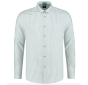 Dstrezzed Overhemd Slim Fit Gestreept Groen (303260 - 689)