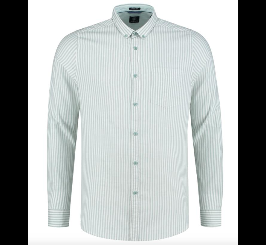 Overhemd Slim Fit Gestreept Groen (303260 - 689)