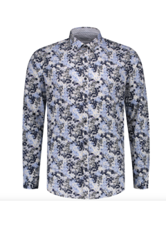 Dstrezzed Overhemd Slim Fit Print Wit (303282 - 100)