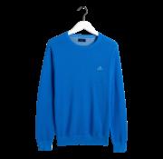 Gant Pullover Blauw Ronde Hals Met Logo (8035021 - 445)