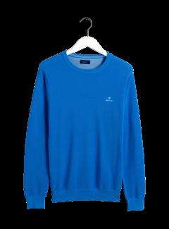 Gant Pullover Blauw Ronde Hals Met Logo (8030521 - 445)