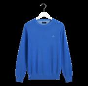 Gant Pullover Blauw Ronde Hals Met Logo (8035021 - 486)
