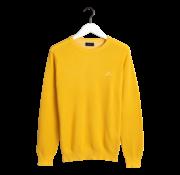 Gant Pullover Geel Ronde Hals Met Logo (8035021 - 706)