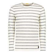 New In Town longsleeve t-shirt gestreept close fitting white/night blue (8024024 - 494)