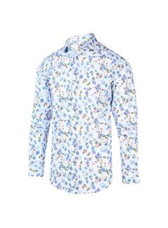 Blue Industry Overhemd Print Blauw (2012.21)