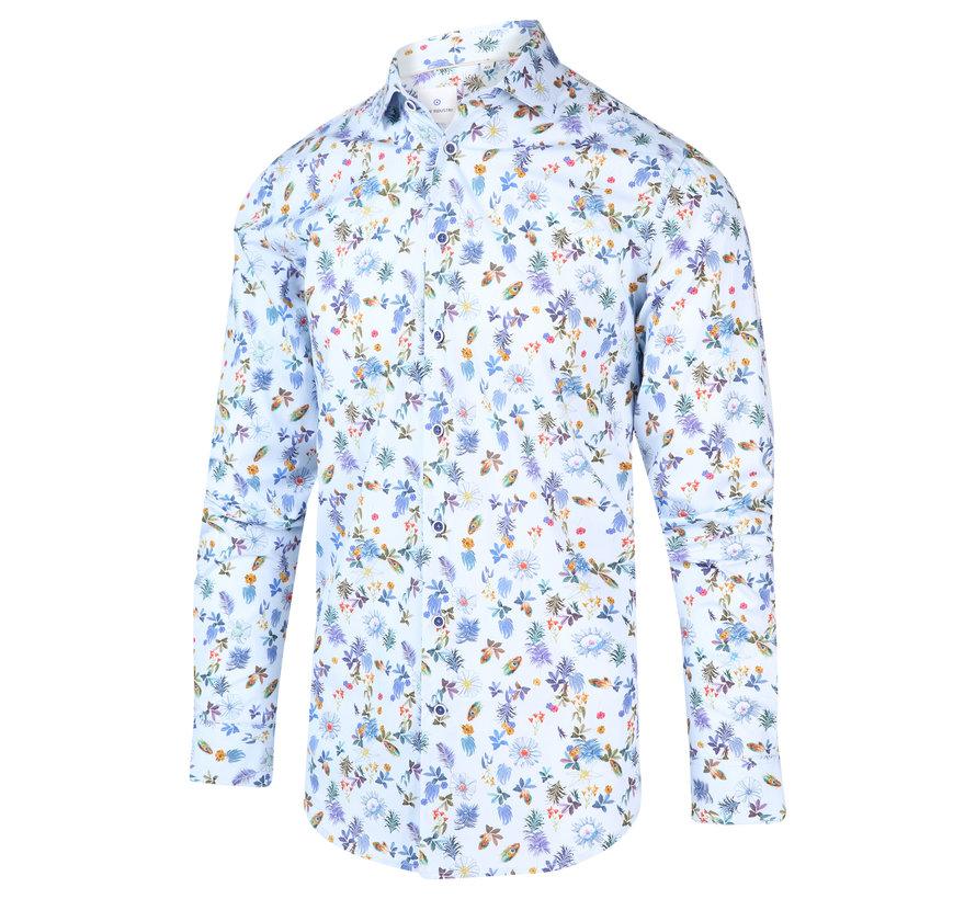 Overhemd Print Blauw (2012.21)
