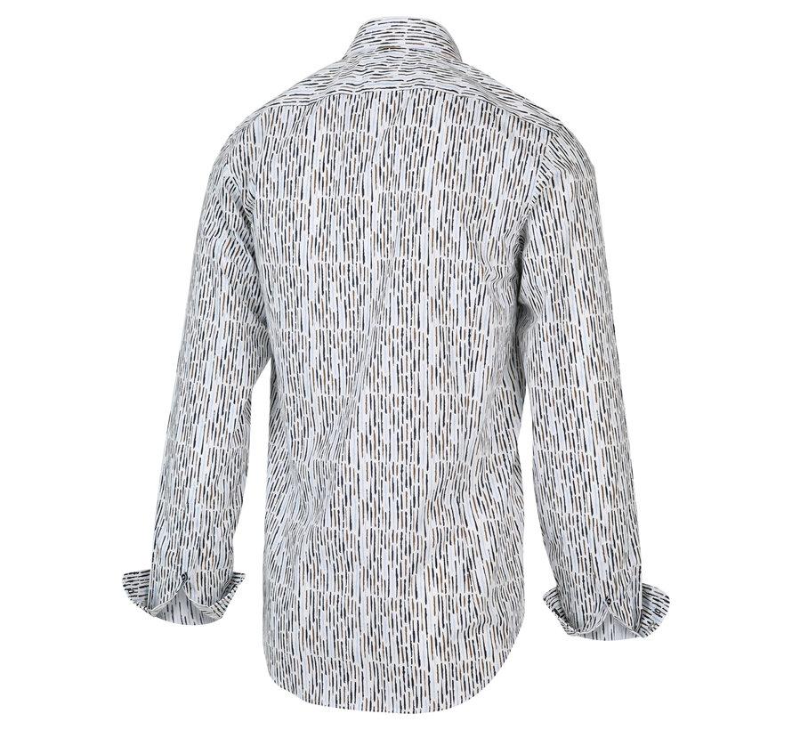 Overhemd Print Bruin (2013.21)