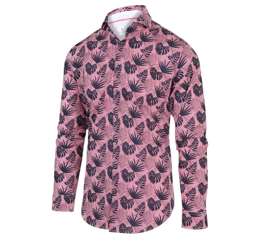 Overhemd Print Roze (2027.21)
