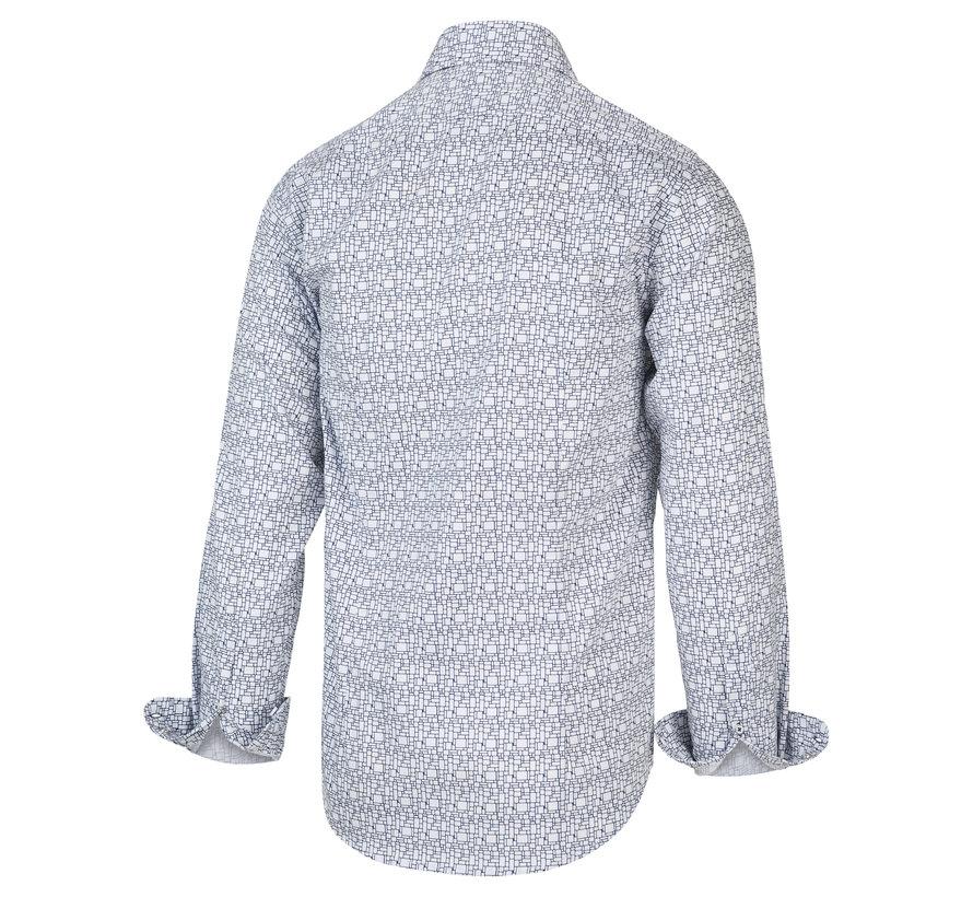 Overhemd Print Blauw (2034.21)