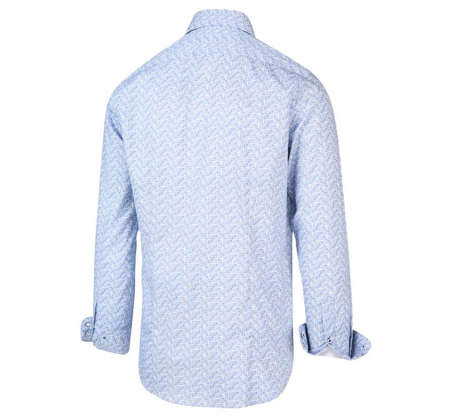 Overhemd Print Licht Blauw (2035.21)