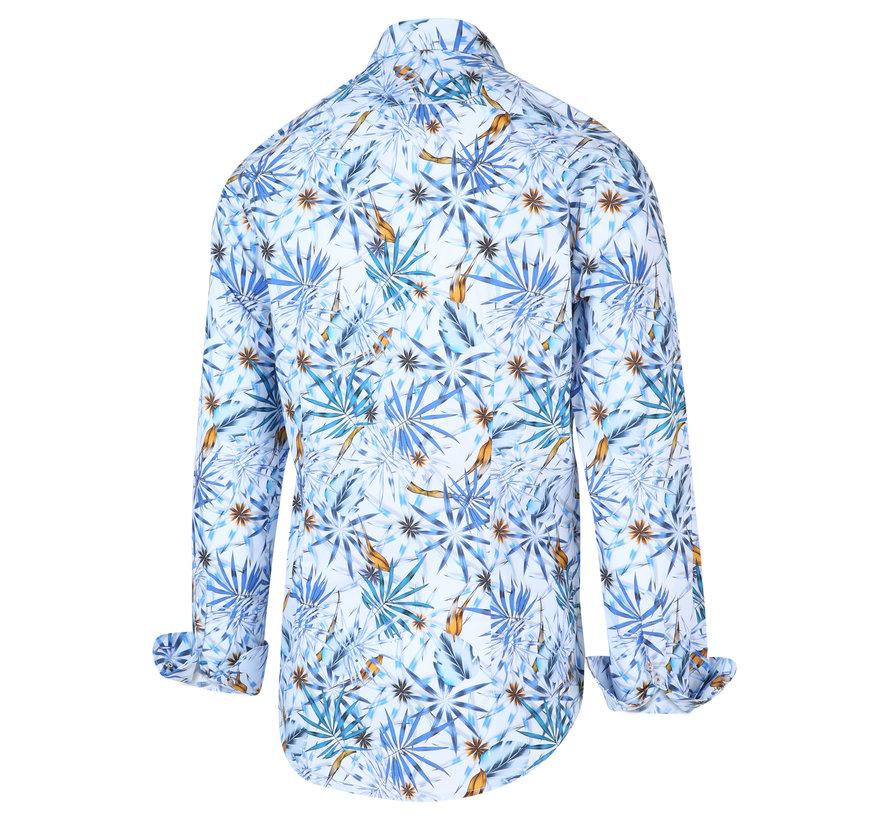 Overhemd Print Blauw (2046.21)