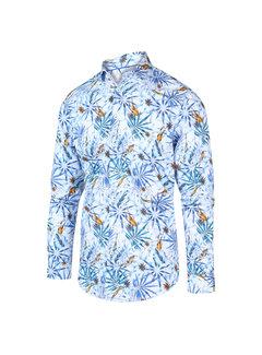 Blue Industry Overhemd Print Blauw (2046.21)