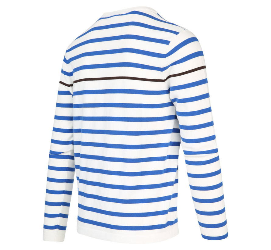 Pullover Streep Wit (KBIS20 - M16 - Off White)