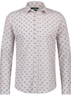 Haze&Finn Overhemd Beige Met Print Fietsen (MC14-0100-32 - RoadBike)