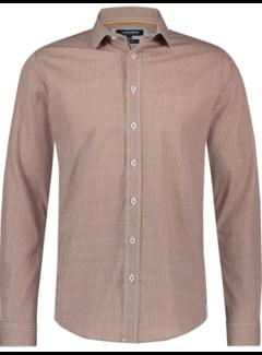 Haze&Finn Overhemd Print Bruin (MC14-0100-33 - RotanDesign)