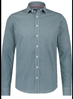 Haze&Finn Overhemd Print Groen/Blauw (MC14-0100-23 - DiamondFlower)