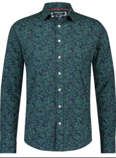 Haze&Finn Overhemd Print Navy Blauw (MC14-0100-26 - Aurora)
