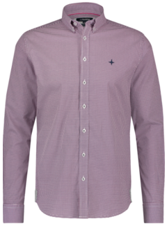 Haze&Finn Overhemd Regular Fit Print Rood (MC14-0106-4 - RedIllusion)