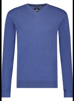 Haze&Finn Pullover V-Hals Blauw (MC14-0220 - TwilightBlue)