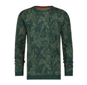 A Fish named Fred Pullover Army Groen Met Print (92.02.506)